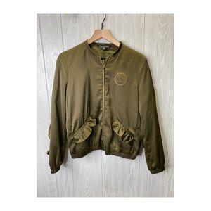 Zara TRF Outterwear Ruffle Jacket